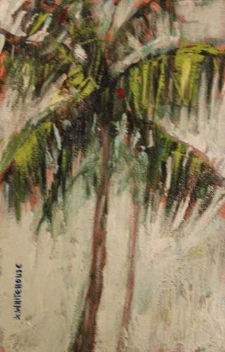 """Florida Palms, Contemporary Landscape Paintings by Arizona Artist Amy Whitehouse"" original fine art by Amy Whitehouse"