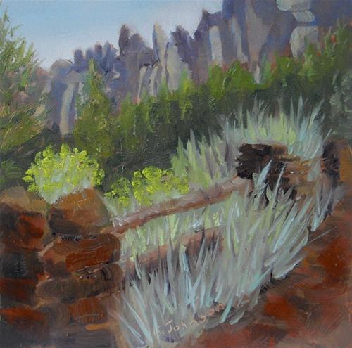 """Smith Rock State Park Sagebrush"" original fine art by Kathy Johnson"