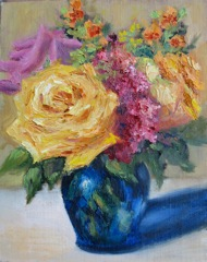 """Small Rose Bouquet"" original fine art by Pat Fiorello"
