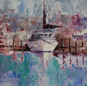 """Abstract Boat Study"" original fine art by Deborah Harold"
