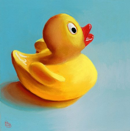 """rubber ducky painting"" original fine art by Ria Hills"