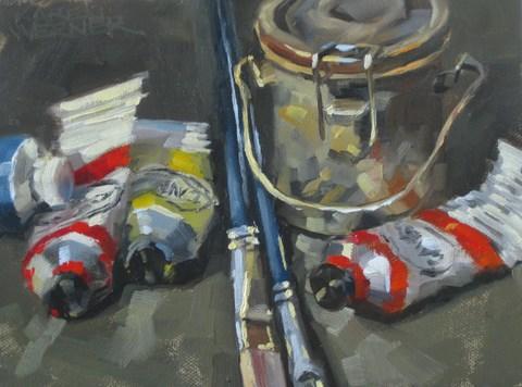 """""""Studio Stuff"""" original fine art by Karen Werner"""