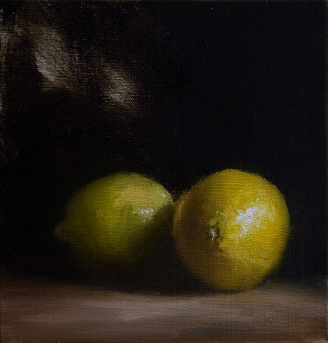 """Lemon & Lime"" original fine art by Neil Carroll"