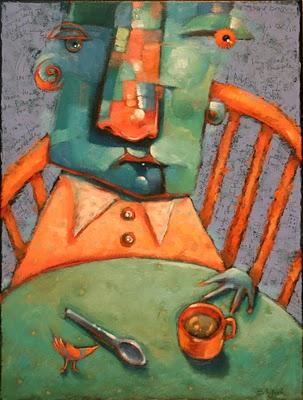 """Breakfast Bird"" original fine art by Brenda York"