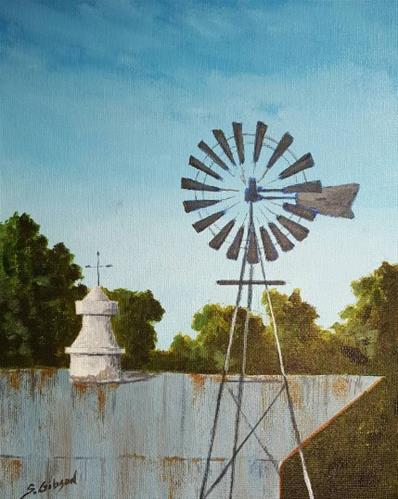 """JP's Windmill"" original fine art by Steve Gibson"