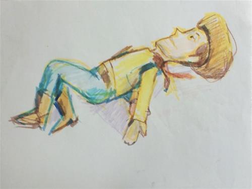 """""""Woody"""" original fine art by Sharon Savitz"""