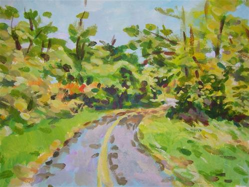 """Hurdman Path"" original fine art by Elbagir Osman"