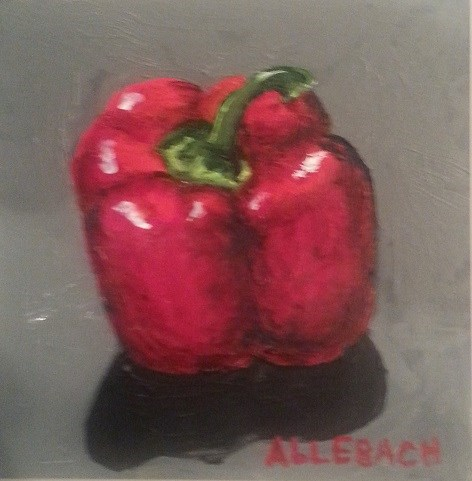 """Red Pepper"" original fine art by Jo Allebach"