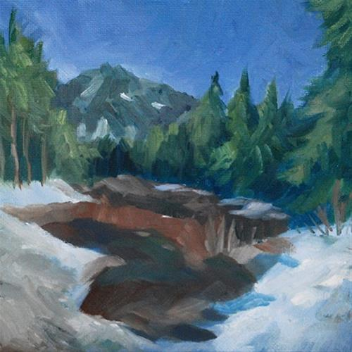 """Melting Snow"" original fine art by J M Needham"