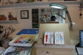 My new Paint On easel, LOVE it! original fine art by Joanne Perez Robinson