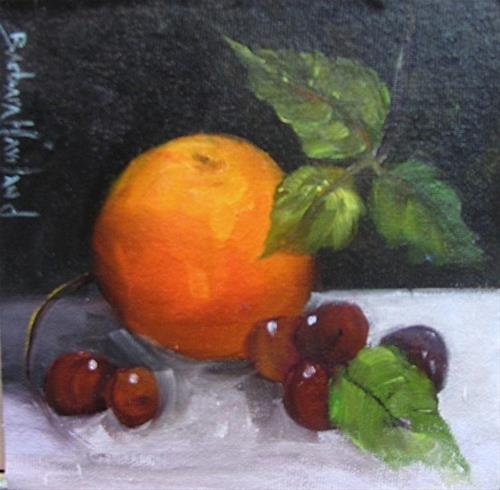 """Oranges and Grapes by Barbara Haviland"" original fine art by Barbara Haviland"