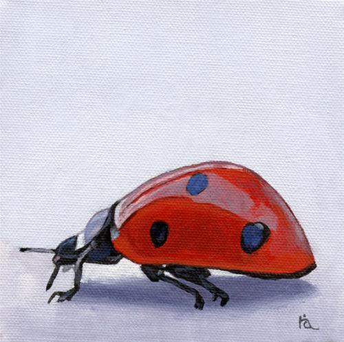 """Ladybug"" original fine art by Ria Hills"