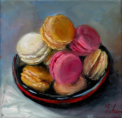 """Macarons"" original fine art by Evelyne Heimburger Evhe"