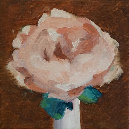 """Peony in White Vase"" original fine art by Catherine Van Berg"