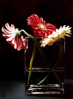 """Floral Study"" original fine art by Jelaine Faunce"