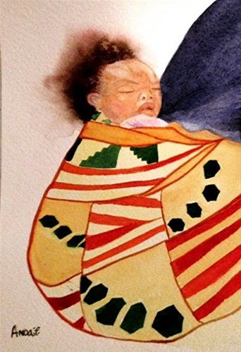 """Mama's Baby"" original fine art by Anoa Kanu"