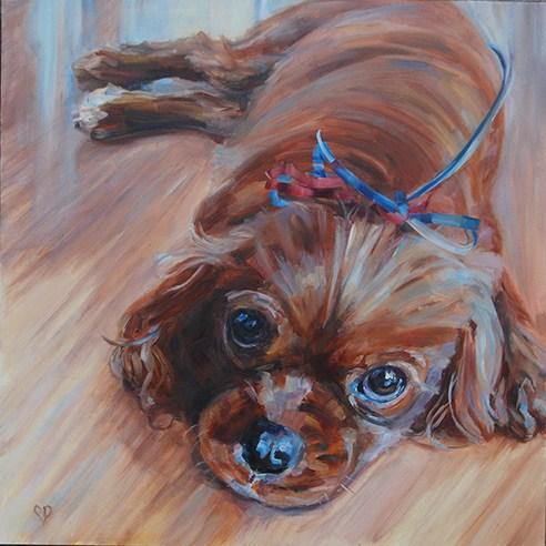"""Beau"" original fine art by Carol DeMumbrum"
