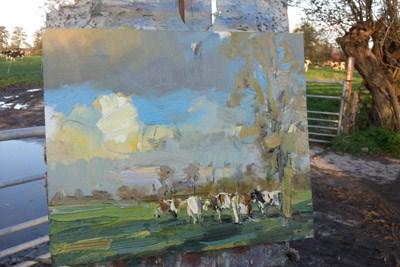 """""""24 November open ik mijn eigen Galerie"""" original fine art by Roos Schuring"""