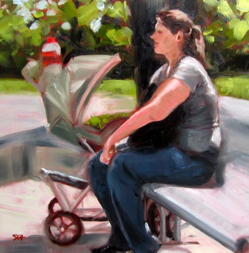 """At the Park"" original fine art by Sandy Haynes"