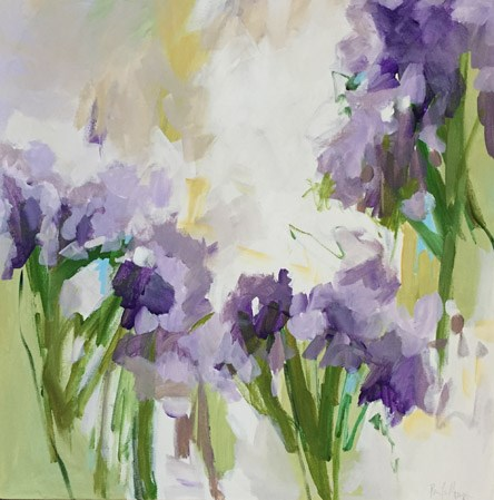 """Purple Blooms"" original fine art by Pamela Munger"