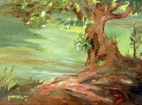 """ORIGINAL PAINTING FROM MEMORY AND SKETCHES"" original fine art by Sue Furrow"