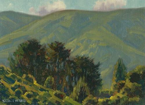 """Home Cypress"" original fine art by J. Thomas soltesz"