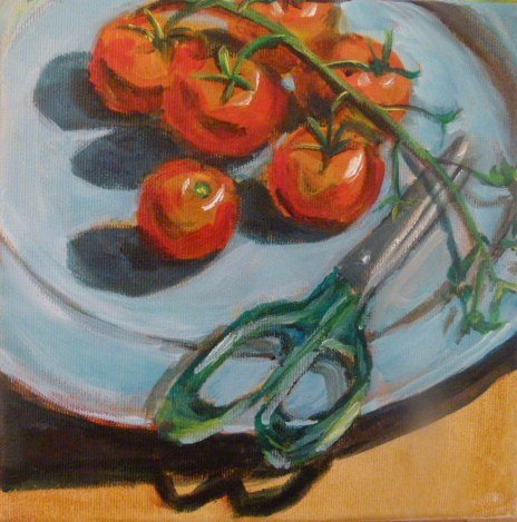 """Cocktail Tomatoes"" original fine art by Sabine Hüning"