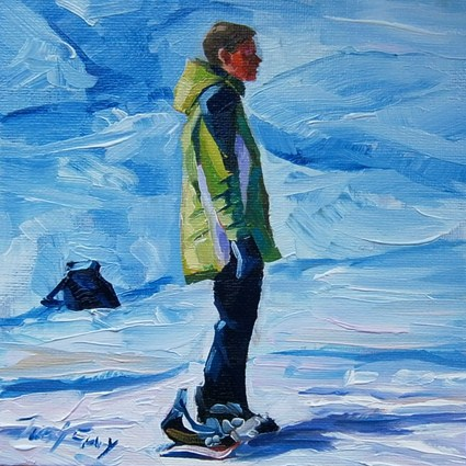 """winter sports"" original fine art by Jurij Frey"