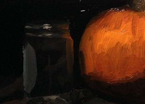 """""""Pumpkin and Jar"""" original fine art by Chris Beaven"""
