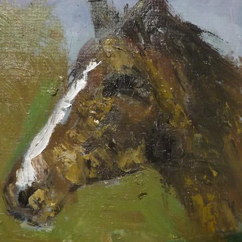 """horse,7"" original fine art by Run-      Zhang Zane"