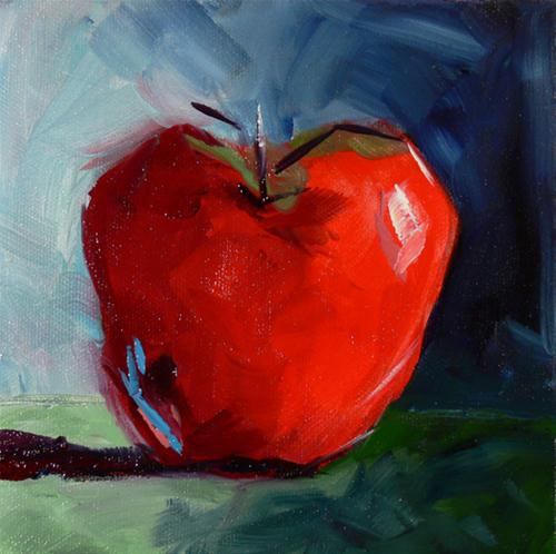 """Apple #30"" original fine art by - JanettMarie"