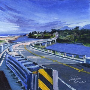 """Ten Mile Bridge"" original fine art by Mariko Irie"
