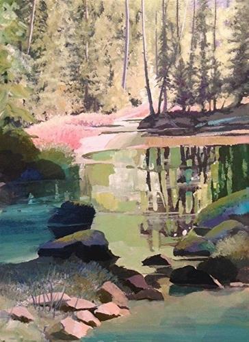 """Scott Lake"" original fine art by Linda Bray"