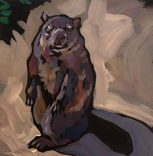 """Whistlepig"" original fine art by Kat Corrigan"