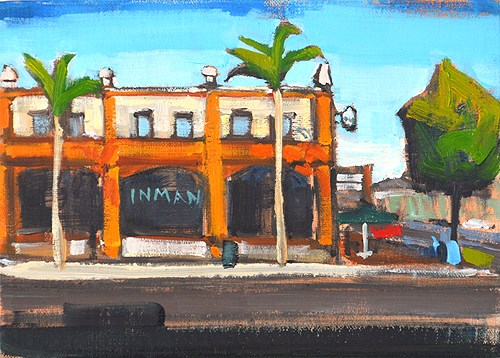 """Starbucks, North Park"" original fine art by Kevin Inman"