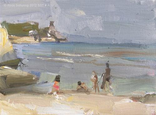 """Seascape summer Thailand # A"" original fine art by Roos Schuring"