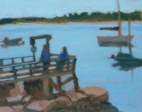 """Littlejohn, Summer Morning"" original fine art by Bobbi Heath"