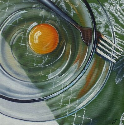 """Egg #11"" original fine art by Jelaine Faunce"