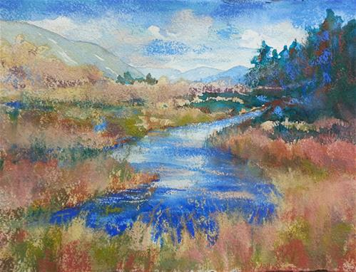 """South Fork II"" original fine art by Becky Chappell"