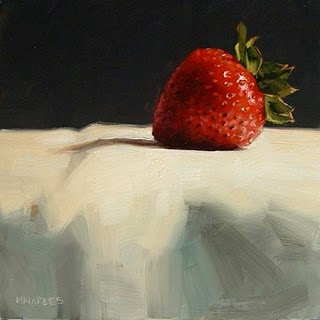 """Single Strawberry"" original fine art by Michael Naples"