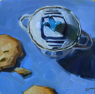 """Sugar Bowl --- SOLD"" original fine art by Carol Marine"