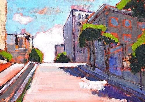 """Russian Hill"" original fine art by Kevin Inman"