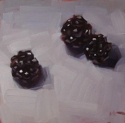 """""""Blackberries --- n/a"""" original fine art by Carol Marine"""