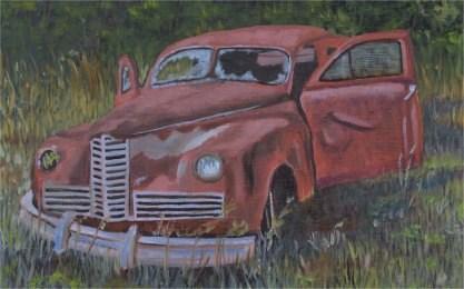 """""""Seen Better Days"""" original fine art by Robert Frankis"""