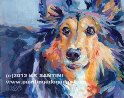 """Toby"" original fine art by Kimberly Santini"