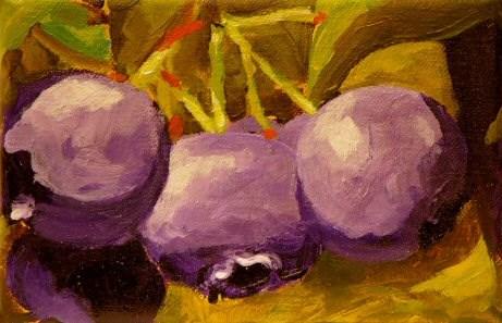 """Blueberries"" original fine art by Mary McInnis"
