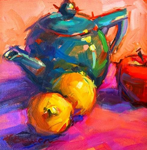 """Teapot"" original fine art by Karen Bruson"