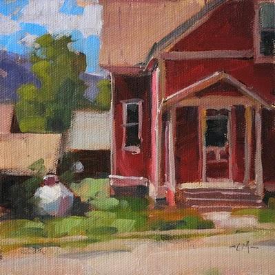 """Pink House 2"" original fine art by Carol Marine"