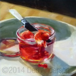 """Oil Painting: Strawberry Jam"" original fine art by Deb Anderson"