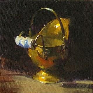 """Brass Object"" original fine art by Qiang Huang"